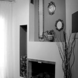 Ανακαίνιση σαλονιού οικίας τζάκι